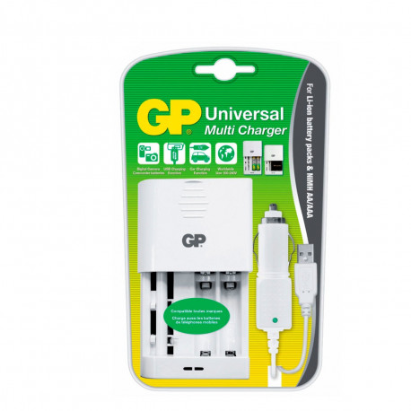 Chargeur Universel Batteries Li-ion et Accus AA/AAA Nimh
