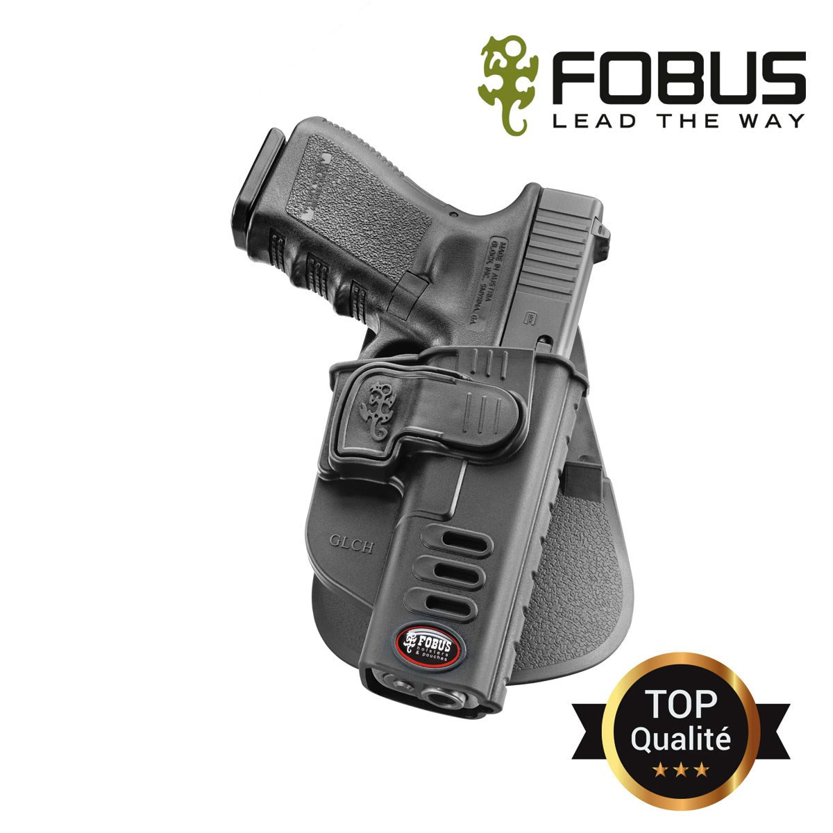 Holster rigide polymere pour Glock retention active index