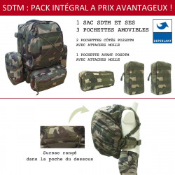 PACK SAC A DOS TACTICAL + 3 POCHETTES