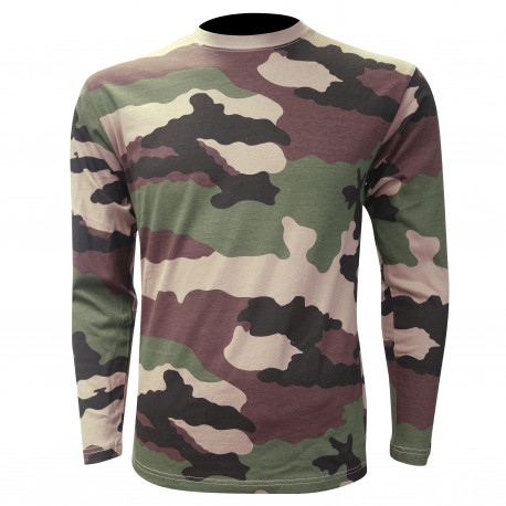 TEE SHIRT MILITAIRE MANCHES LONGUES CAM