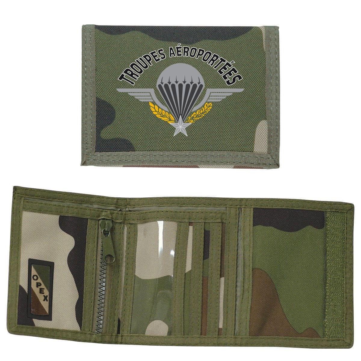 PORTEFEUILLE POLYESTER CAMOUFLAGE  PARA