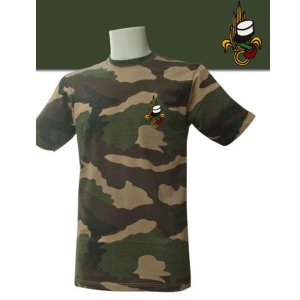 TEE SHIRT MANCHES COURTES CAMOUFLAGE BRODE LEGION