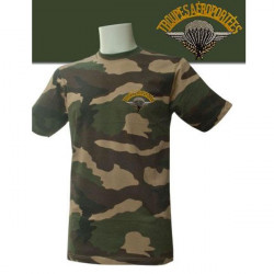 TEE SHIRT MANCHES COURTES CAMOUFLAGE BRODE PARA