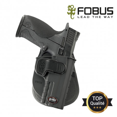 Holster rigide polymère pour Smith Wesson MP9 paddle fixe